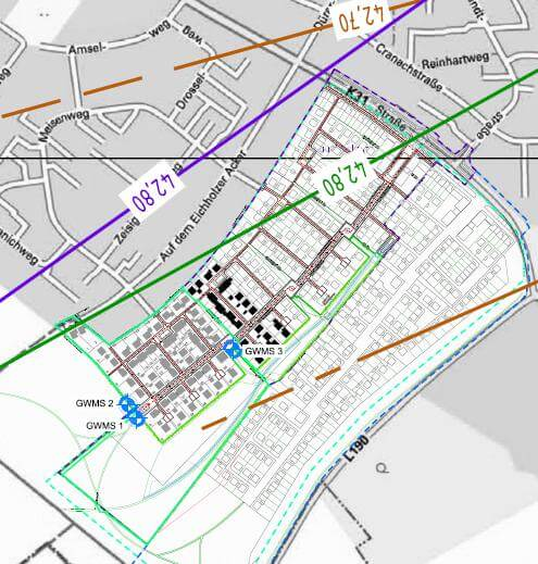 Abb. 2‑3: Standorte der Grundwassermessstellen